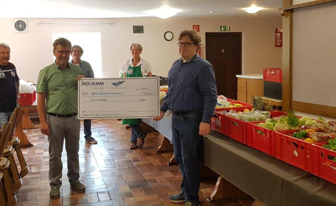 "Help in challenging Corona times – UTT company donates to the association ""Offener Tafelkreis Krumbach e.V."""